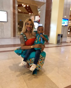 Actress, Tonto Dikeh And Son Wear Matching Outfit To Church (Photos)