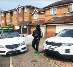 Show Promoter, King Smade Poses With His Customized Benz & Range Rover