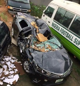 Check out the accident a man miraculously survived in Lagos (Photos)
