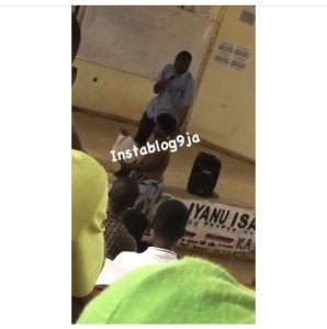 Topless Mentally Unstable Lady Disrupts Lecture In UNIBEN (Photos)