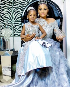 Actress, Uche Ogbodo And Daughter, Mildred In Matching Outfits. (Photos)