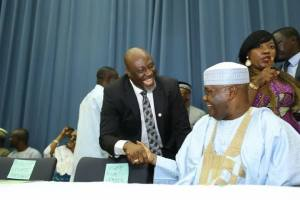 R-APC: What Dino Melaye said about Buhari, APC during signing of MoU with, others (Video)