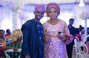 Comedian Teju baby face holds a flamboyant dedication for his twins in Lagos (photos)