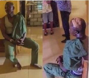 Nigerian Policeman Mercilessly Beaten After Shooting Someone In The Leg (Photos)