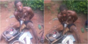 Thief Arrested While Preparing Pepper Soup With Stolen Goat In Edo (Photo)