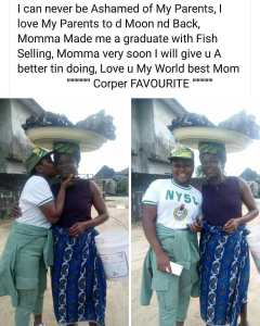 'My Mother Made Me A Graduate With Fish Selling' – Female Corper