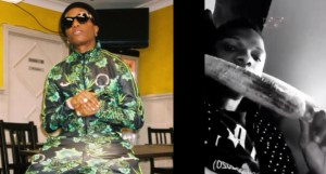 Wizkid Seen Eating Roasted Corn In Private Jet – (Video)