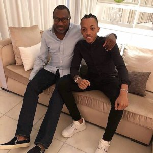 Femi Otedola Calls Tekno His Son As They Spend An Evening Together