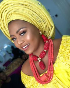 Regina Daniels Stuns In Native Bridal Attire And Make-Up (Photo)