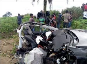 Car Splits Into Two After Accident In Delta, But Driver Walks Out Alive. (Photos)