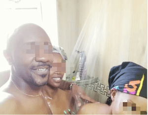 Nude Photo Of Married Man Bathing With 2 Ladies After Sex Leaks Online (Photo)