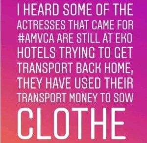 'Some Actresses That Came For AMVCA Are Still Stuck At Eko Hotel'- Comedian Arole