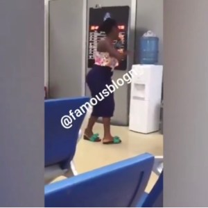 LMAO!!Slay Queen Seen Struggling To Use Water Dispenser In Public (Video)