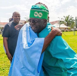 Aregbesola Hugs And Welcomes Tinubu To Osun Ahead Of APC Flag Off