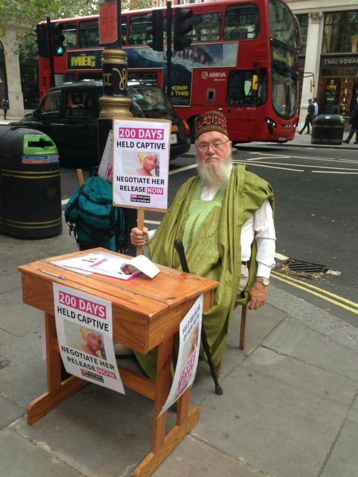 , #Leah Sharibu: Another British Man Protests On The Streets Of London, Effiezy - Top Nigerian News & Entertainment Website