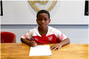 GOOD STUFF!!  Arsenal Sign 9-Year-Old Nigerian Boy In South Africa
