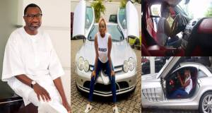 Billionaire, Femi Otedola Reacts After His Daughter, DJ Cuppy Posed With His ₦250M Car