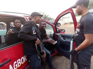 2 Robbers Caught And Stripped Unclad In Agbor, Delta (Photos)