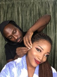 Nigerian Guy Makes His Girlfriend Up; See Before and After Photos (Videos)