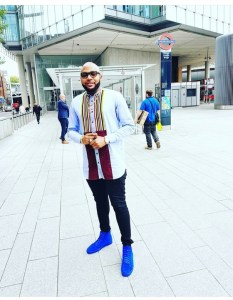 E-money Swagged Up As He Hits London Bridge Station (Photos)