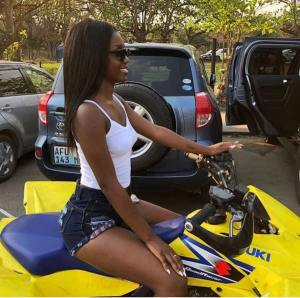 Slay Queen Lands In The Hospital With Injured Buttocks After Bike Accident. (Video)