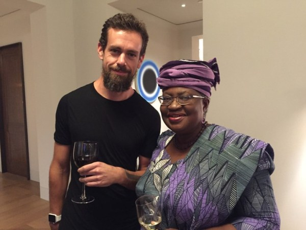 , Ngozi Okonjo-Iweala With Twitter CEO, Mark Dorsey (Photo), Effiezy - Top Nigerian News & Entertainment Website