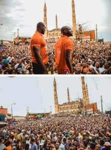 Davido Campaigns For His Uncle, Ademola Adeleke; Mobbed By Fans In Osun (Photos)