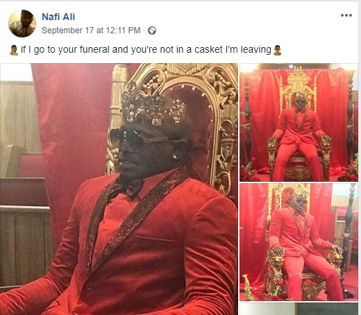 , CREEPY!! See this corpse kept in a sitting position during his burial (Photo), Effiezy - Top Nigerian News & Entertainment Website