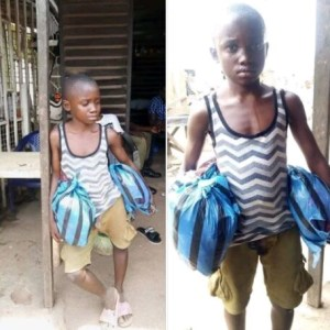 "This Little Boy Is Stranded After His ""Master"" Threw Him Out In Lagos (Photo)"