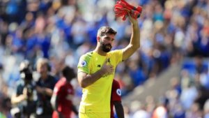 Liverpool goalkeeper, Alisson blames Van Dijk for his mistake against Leicester City