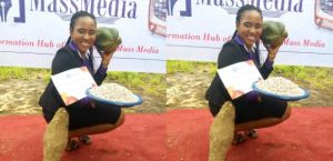 LOL!! Best Creative Advert Student Receives Yam, Beans And Pawpaw As Gift (Photo)