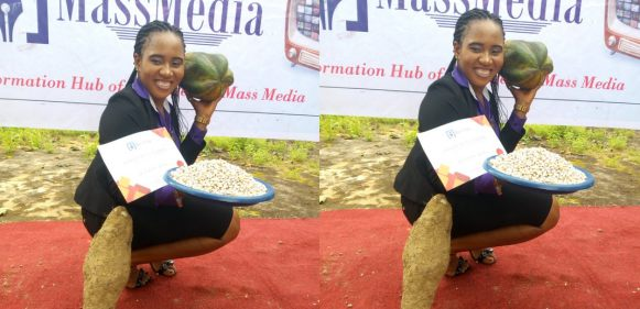 , LOL!! Best Creative Advert Student Receives Yam, Beans And Pawpaw As Gift (Photo), Effiezy - Top Nigerian News & Entertainment Website