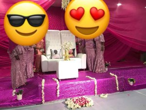LOL!!! Nigerian Couple Absent At Their Wedding; Represented By Pillows (Photos)