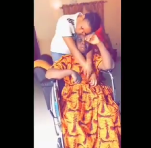 SWEET!! Lady Celebrates Her Mum Who Has Been Down With Stroke (Video)