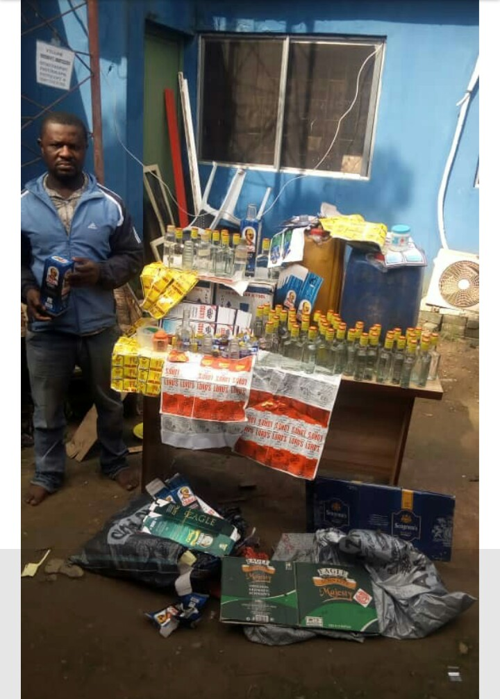 , ONE ROOM BREWERY! Man arrested for producing, distributing fake alcoholic drinks in Lagos (Photo), Effiezy - Top Nigerian News & Entertainment Website