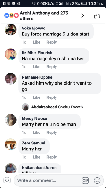 , Lady Who Met Man On Facebook Visits Him, Refuses To Go Back Home. (See Reactions), Effiezy - Top Nigerian News & Entertainment Website