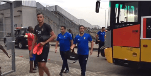 'Angry' Libya Team Arrive Uyo Stadium After Rejecting Hotel Provided By NFF (Video)