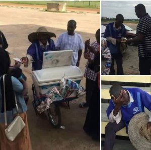Youghurt Seller Gets Rewarded With 3million Naira From Customer Of 30 Years (Photos)