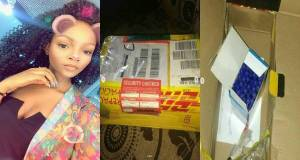 Abeokuta lady buys iPhone from U.K, waybills it for N40k, only to receive a pack of Biro (Photos)
