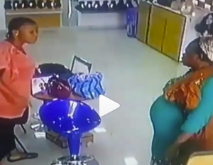 Video: Pregnant woman was caught on CCTV stealing 300 grams of human hair