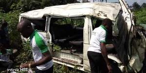 Catholic Corpers Travelling From Uyo To Rivers Involved In Accident (Graphic Photo)