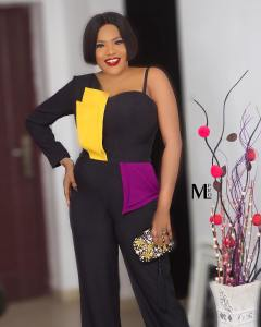 Actress, Toyin Abraham Looks Radiant In off shoulder Braless Outfit