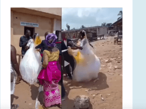 Wedding Disrupted As First Wife Comes To Attack Bride At Church Wedding In Imo (Video)