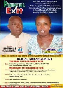 Obituary Of A Nigerian Couple Who Died On The Same Day