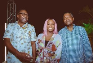 Femi Otedola, Dangote At Cuppy's Cactus On The Roof