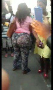 Lady Embarrassed For Wearing See-Through Pant (Photos, Video)