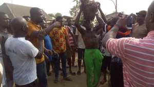 Suspected Ritualist Paraded In Nekede, Imo State. (Photos)
