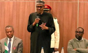 """""""Those Who Thought I Was Dead Begged Osinbajo To Make Them His VP – Buhari (Watch Video)"""