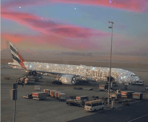 Checkout the Emirates boeing 777 aircraft designed with Diamonds in Dubai