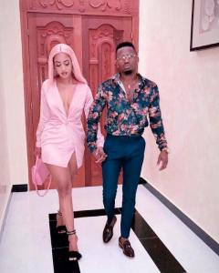 Singer, Diamond Platnumz and his new girlfriend, Tanasha step out in style (Photo)